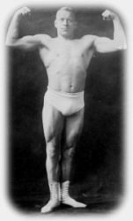 vintage photo of a body builder